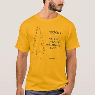 Lokales Waldgold und lokaler hölzerner T - Shirt