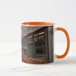 Lokomotiv- und Zuglastwagenwecker-Tasse Tasse