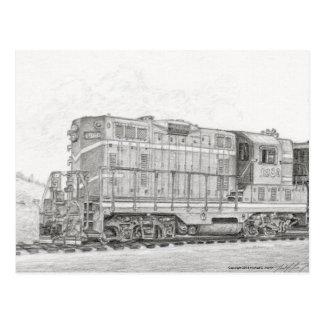 Lokomotive Postkarte