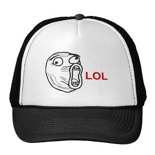 LOL Lachen-heraus lautes Raserei-Gesicht Meme Baseballkappe