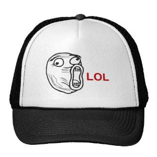 LOL Lachen-heraus lautes Raserei-Gesicht Meme Retrocap