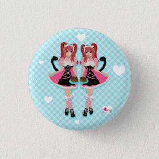 Lolita Neko Mädchen-Knopf Runder Button 3,2 Cm