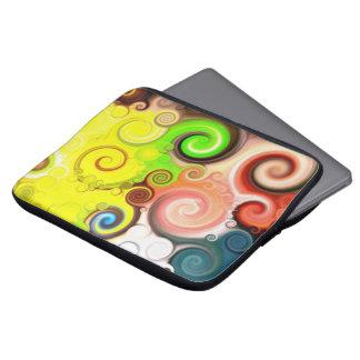 lolly-swirl' - 13 Zoll Neopren Laptop Schutzhülle