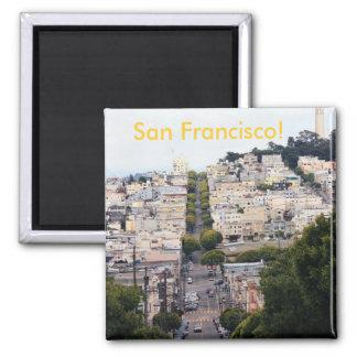 Lombard-Straße, San Francisco Quadratischer Magnet