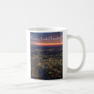 London Abenddämmerung Luftbild Tasse