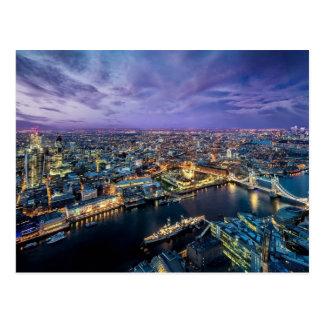 London-Abends-Postkarte Postkarte