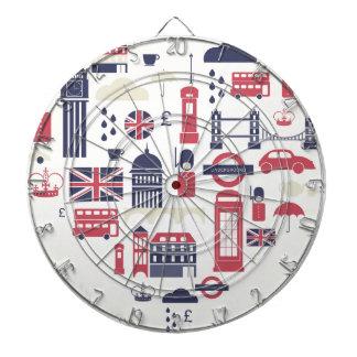 London am Herzen Dartscheibe