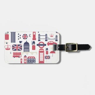 London am Herzen Kofferanhänger