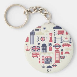 London am Herzen Schlüsselanhänger