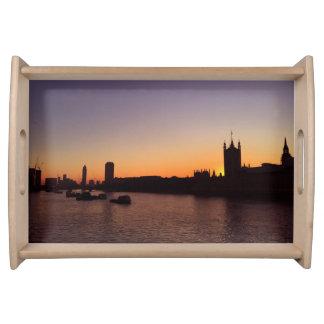 London am Sonnenuntergang-Serviertablett Serviertablett