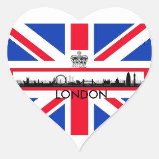 London-Augen-Gewerkschafts-Jack-Flaggen-Aufkleber Herz-Aufkleber