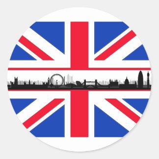 London-Augen-Gewerkschafts-Jack-Flaggen-Aufkleber Runder Aufkleber