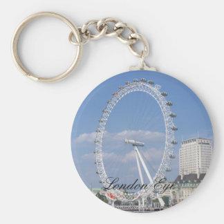 London-Augen-Knopf Keychain Schlüsselanhänger