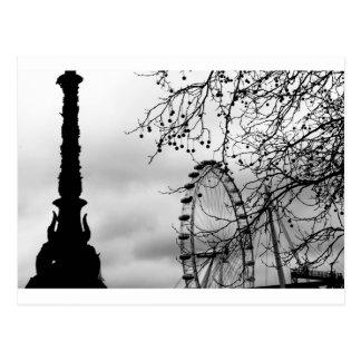 London-Augen-Kunst-Hintergrund Postkarte