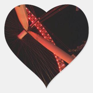 London-Augen-Nachtansicht-Herz-Aufkleber Herz-Aufkleber