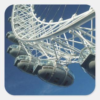 London-Augen-Riesenrad Quadratischer Aufkleber