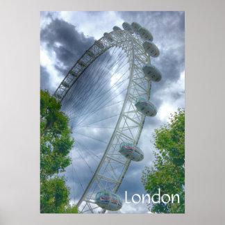 London-Augen-Sehenswürdigkeit-Plakat Poster