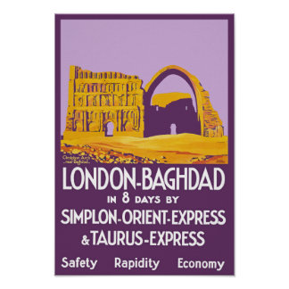 London- - Bagdad-Orientexpress Poster