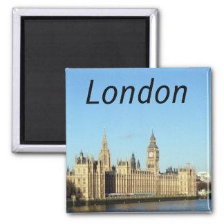 London, britisches Parlament und das BigBen Quadratischer Magnet