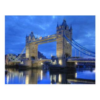 London-Brücke an der Nachtpostkarte Postkarten