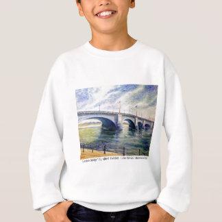 London-Brücke durch Alfred Zwiebel Sweatshirt