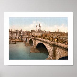 London-Brücke, England Poster