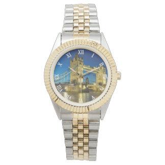 London-Brückengoldarmbanduhr Uhr