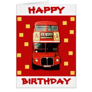 London-Bus-Geburtstags-Karte 01 Grußkarte