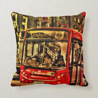 London-Bus-Straßen-Szenen-Grafik Kissen