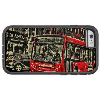 London-Bus-Straßen-Szenen-Grafik Tough Xtreme iPhone 6 Hülle