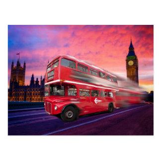London-Bus und Big Ben Postkarte