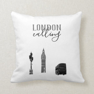 London, das Big Ben stilvollen Schwarz-weißen Kissen