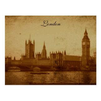 London die Themse und Parlament Postkarte