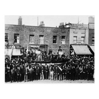 London-Dock-Streik, 1889 Postkarte