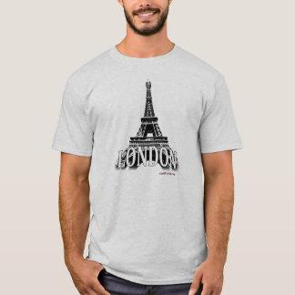 London England, das den Eiffelturm kennzeichnet T-Shirt