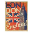London, England - Flagge Postkarte