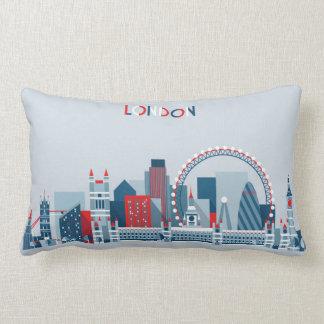 London, England | rote, weiße und blaue Skyline Lendenkissen
