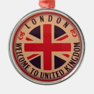 London - Gewerkschafts-Jack - Willkommen nach Silbernes Ornament