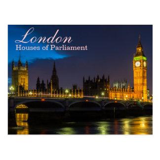 London - Häuser der Parlamentspostkarte Postkarte