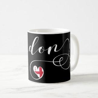 London-Herz-Tasse, England Kaffeetasse