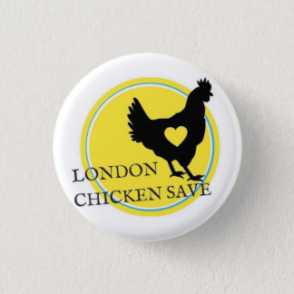 LONDON-HUHN RETTEN LOGO-KNOPF RUNDER BUTTON 2,5 CM