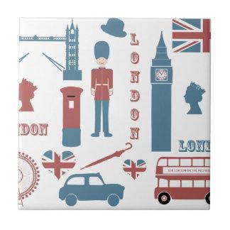 London-Ikonen-Retro Liebe-Andenken-Keramikfliese Kleine Quadratische Fliese