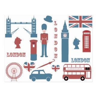 London-Ikonen-Retro Liebe-Andenkenpostkarte Postkarte