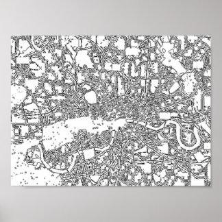 """London-Karte. 11"""" x 8,5"""", Wert-Plakat-Papier Poster"""