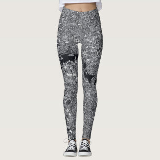 London-Karte Hand gezeichnetes illustraion Themse Leggings