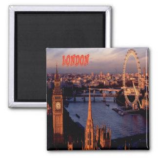 London-Kühlschrankmagnet-Andenken Quadratischer Magnet