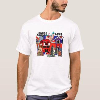 London-Liebe-rote Bus-Gewerkschafts-Jack-Shirts T-Shirt