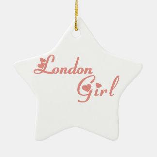 London-Mädchen Keramik Ornament