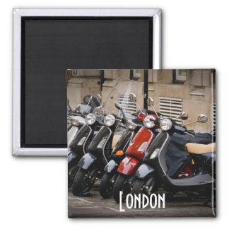 London-Motorrad-Magnet Quadratischer Magnet