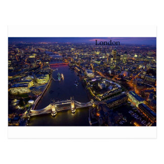 London nachts durch St K Postkarte